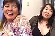 デカ乳輪の爆乳垂れ乳を揺らしまくり五十路高齢熟女イキまくり!森山愛子・絹田美津