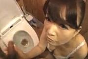 トイレで鉢合わせた下着姿の義母に主観でフェラ抜き!