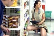 長身のガリガリ五十路熟女がパート中にパイパンを責められ連続イキまくり!笛木薫