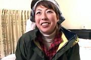 田舎のパイパン熟女がナンパ激セックスで大絶叫中出しエッチ!木村早苗