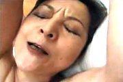 「こんなにしたの初めて〜」ピンク乳首の垂れ乳還暦熟女!松村彩子