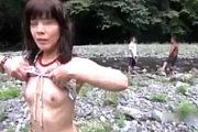 【素人投稿】青姦調教中の浮気人妻が一般の釣り人に即尺して3Pエッチ