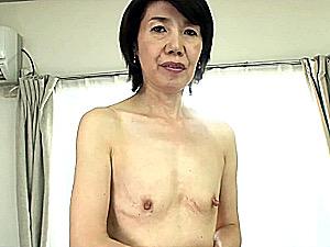 ごく普通の地味な還暦熟女が貧乳パイパンを晒してフェラ抜き!瀬川志穂