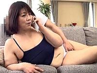 110cm爆乳豊満の五十路熟女が夫の出張中に息子に性調教され中出し近親相姦!山口敦子