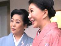 ドスケベ女将が若い女性客を痴女ってレズ堕ち3P!庵叶和子・瀬野ゆかり