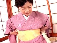 着物姿の還暦熟女が高速ピストンされ中出しエッチ!荒木加寿子