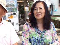 七十路カップルが温泉旅行で2度の中出しエッチ!天間美津江