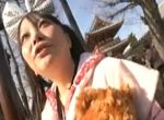 浅草で噂の激安フェラ抜きオバさんに青姦で口内発射!