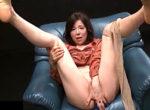 アナルバイブでオーガズムする長身五十路熟女!青山愛
